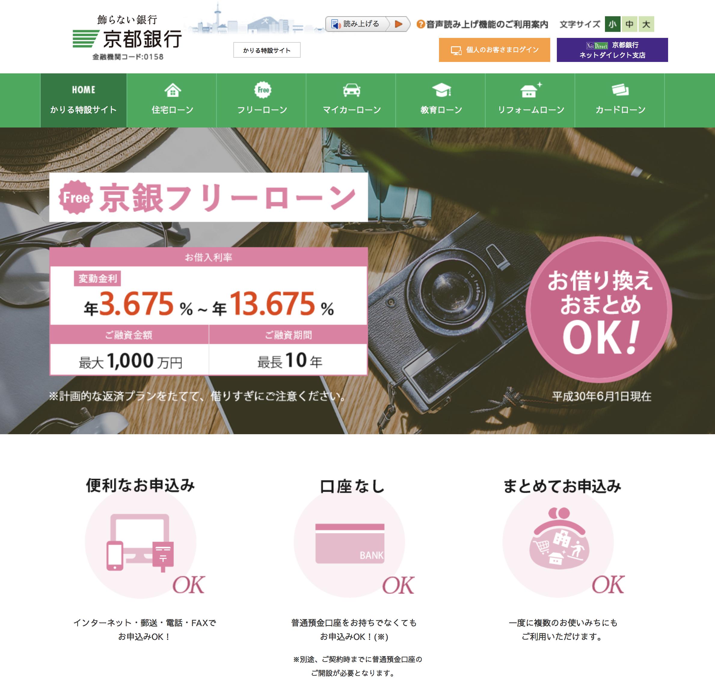 おまとめローン⑦ 京都銀行